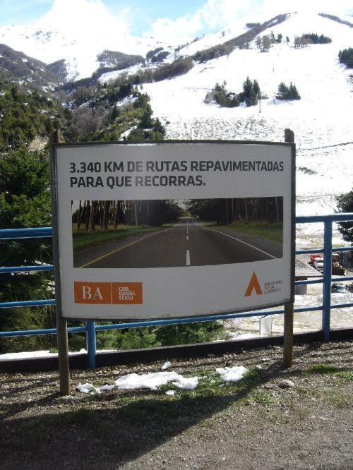 Propaganda en el cerro Catedral